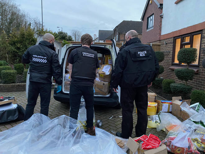 Four people were arrested as part of the investigation in Croydon on Wednesday
