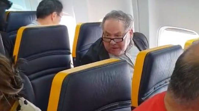 David Mesher on the RyanAir flight