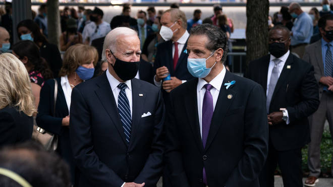 Mr Cuomo, pictured with US President Joe Biden, has also been accused of harassment by two women who worked for his administration