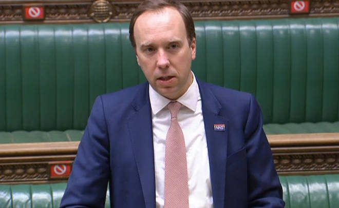 Health Secretary Matt Hancock updates MPs in the House of Commons