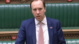 Health Secretary Matt Hancock updates MPs in the House of Commons