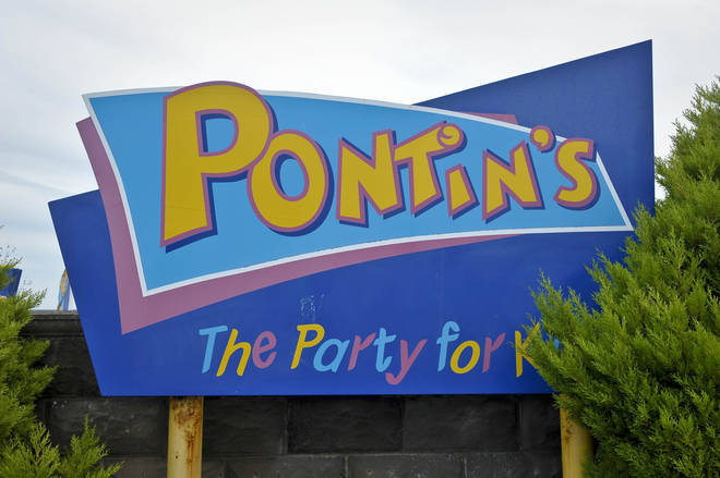 A general view of Pontin's signage at Brean, Somerset