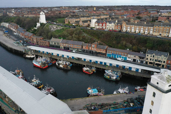 File photo: Fishing boats at North Shields Fish Quay on the bank of the River Tyne in northeast England