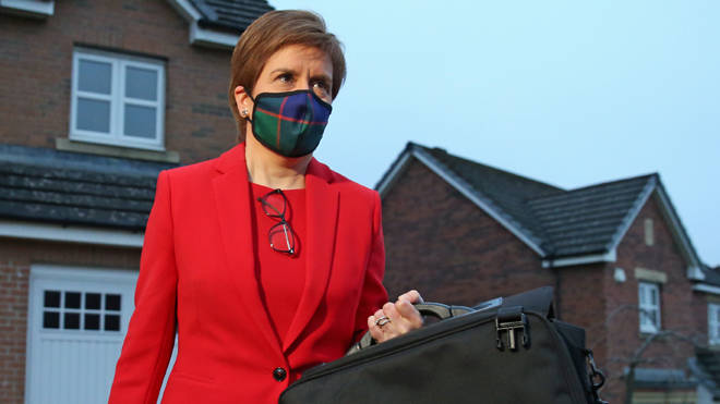 Nicola Sturgeon was giving evidence today