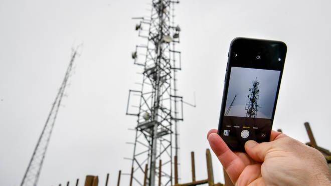 A 5G phone mast