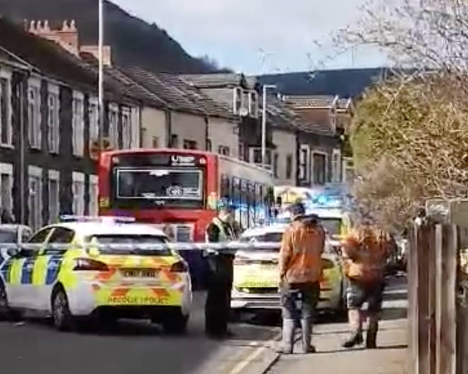 Emergency services have been dealing with a serious incident in a south Wales village