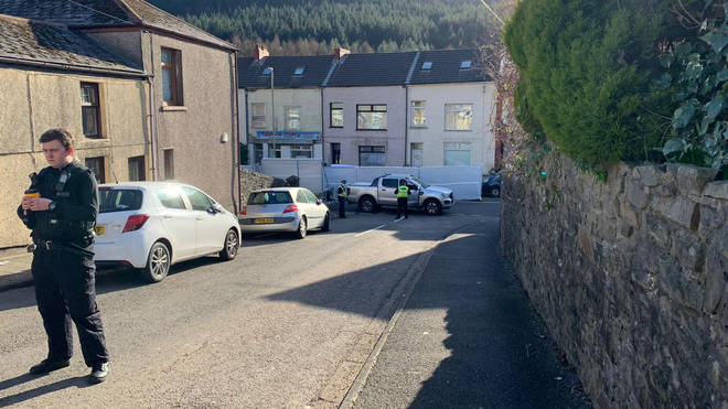 The area surrounding the incident has been cordoned off as forensics teams investigate