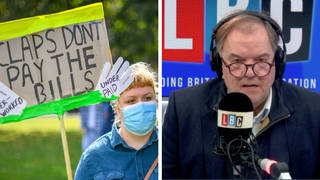 'Hang your head in shame': Callers bitter clash over NHS pay row