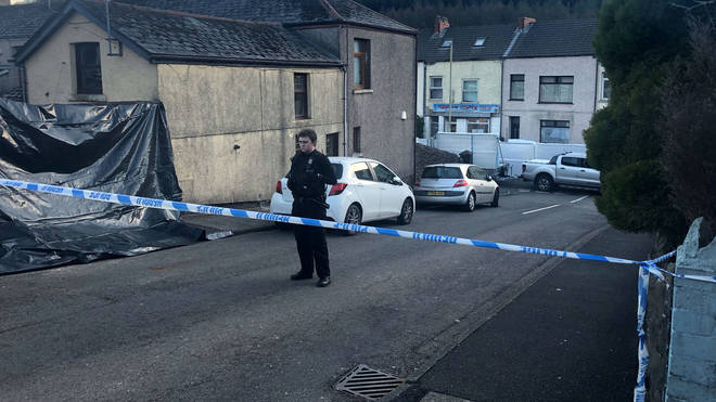 A major police operation was launched after the incident in Treorchy, south Wales