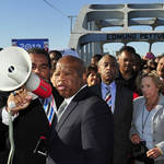 John Lewis on Edmund Pettus Bridge in 2012