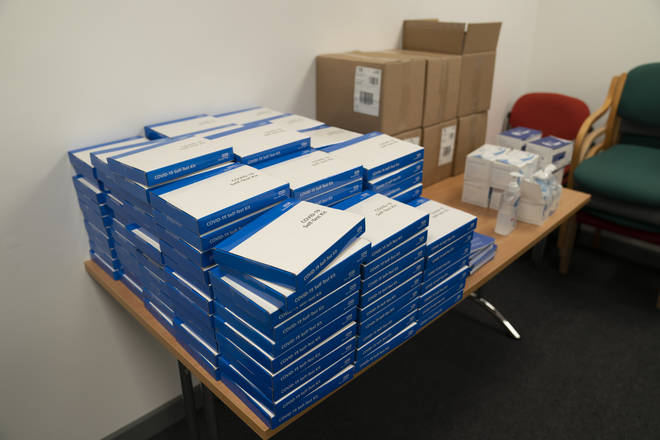 Nearly 57 million Covid test kits have been delivered to schools and colleges, according to Downing Street.
