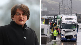 "DUP leader Arlene Foster told Swarbrick on Sunday there was a ""real need to replace the protocol""."