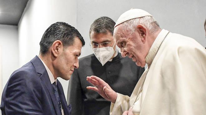 Pope Francis speaks to Abdullah Kurdi