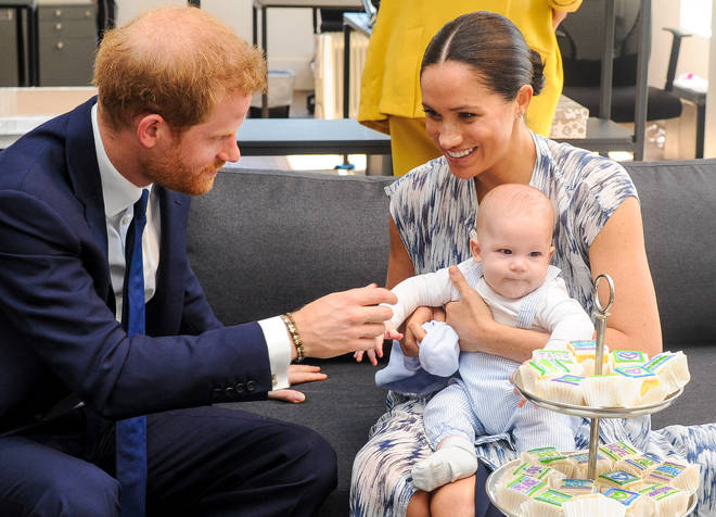 """Meghan claimed there were """"several conversations"""" amongst the Royal Family about her son Archie&squot;s skin colour, before he was born."""