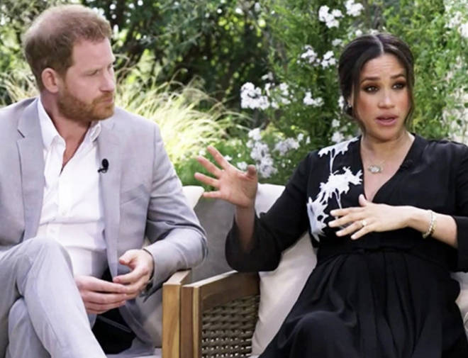 Meghan and Harry's interview with Oprah was aired last night