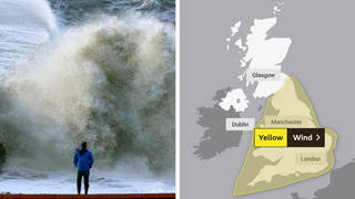 The Met Office has issued a yellow warning for wind across England and Wales on Wednesday and Thursday this week.