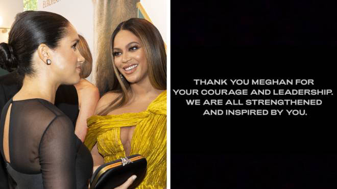Beyoncé has spoken out in support of Meghan Markle following the Oprah interview