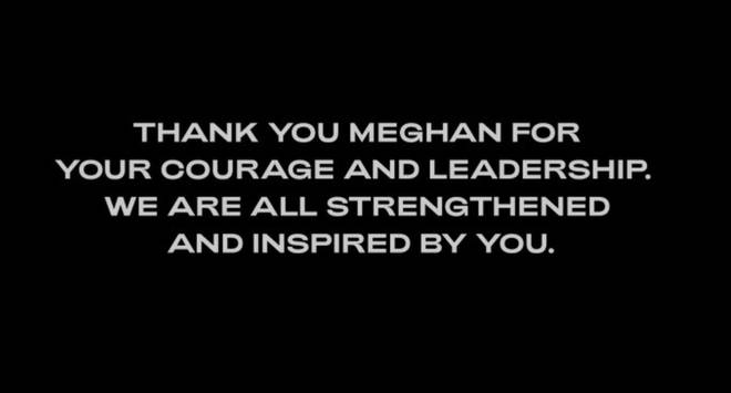 A message posted on the pop star's website had this to say to Meghan