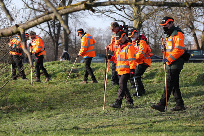 London Search and Rescue joined specialist officers in caring out searches in Clapham.