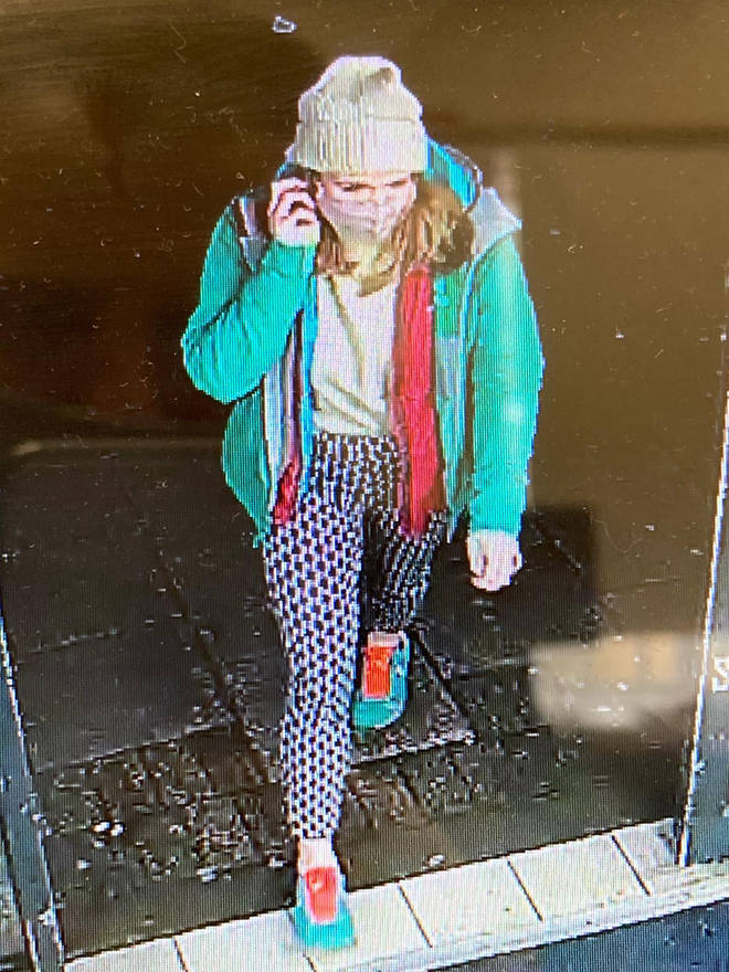 CCTV images showed Sarah Everard in a green jacket and white beanie on the night she went missing.