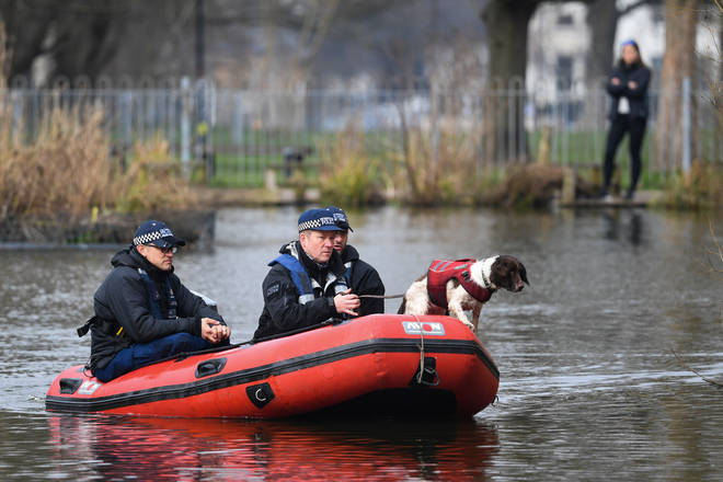 On Tuesday sniffer dogs were used to search Clapham Common.
