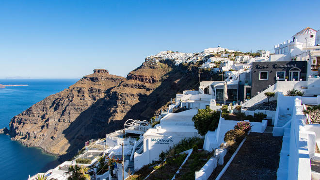 Brits could head back to the likes of Santorini, Greece, by mid-May