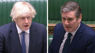 Keir Starmer and Boris Johnson clashed over the pay rise given to Dominic Cummings and that planned for NHS nurses.