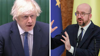 Boris Johnson sought to correct the suggestion by Charles Michel