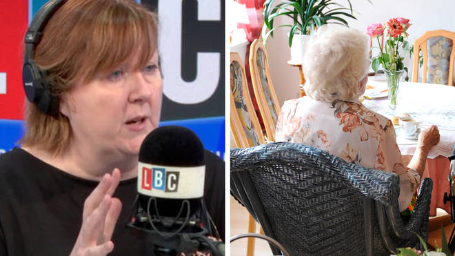 """A caller has told LBC that emotionally he feels as if """"his mother has already died"""" after months without being able to visit her in a care home."""
