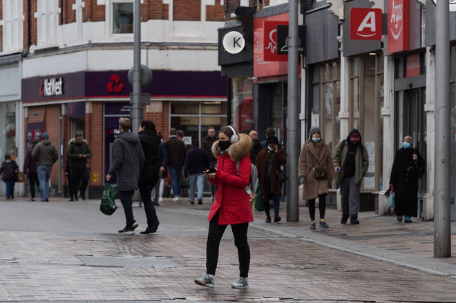 File photo: Residents of Wandsworth are seen running their daily errands as England is under third lockdown