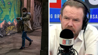 James O'Brien caller explains how men can be less threatening to women at night