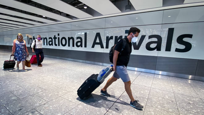 Passengers arrive at Heathrow Airport (file image)