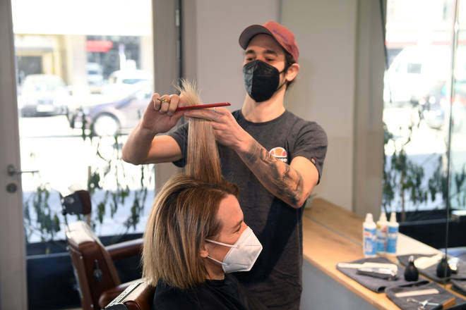 On Monday, hairdressers and barbers will re-open for appointments