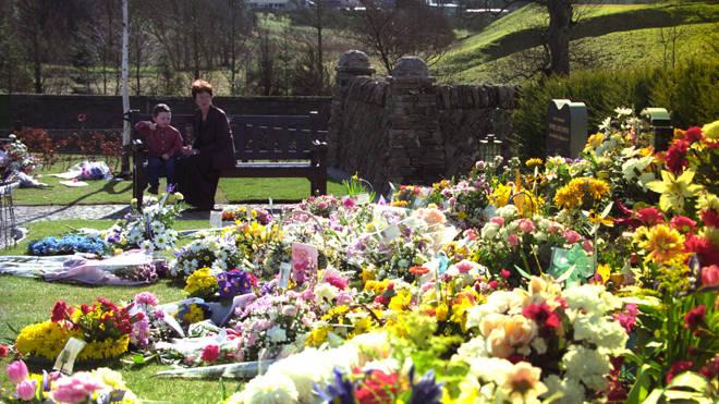 The Dunblane Memorial Garden pictured in 1998