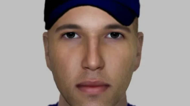 Police issued this e-fit of a man they want to trace after the attack