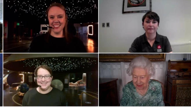 Experts and schoolchildren joined the Queen in a virtual event to mark British Science Week