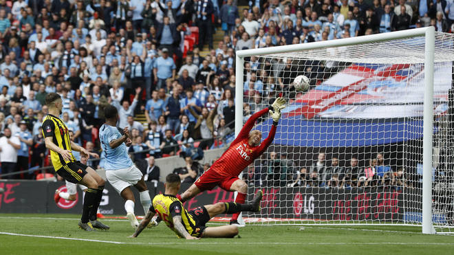 Fans were last at the FA Cup final in May 2019 to watch Manchester City beat Watford