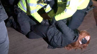 Patsy Stevenson was arrested on the ground at Clapham Common on Saturday evening