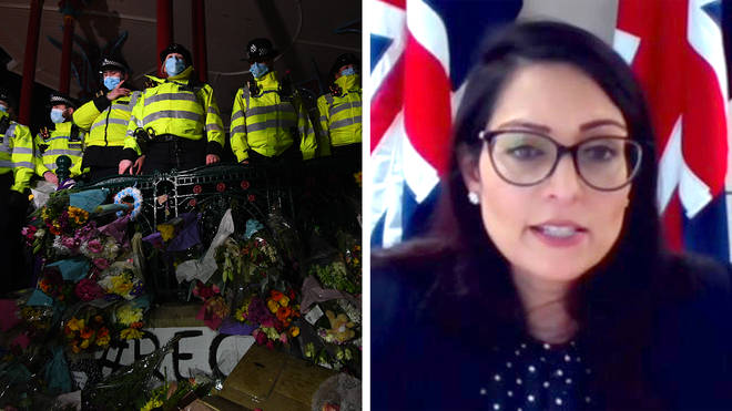 """Priti Patel&squot;s policing bill is coming under intense scrutiny after the """"disproportionate"""" policing of a Sarah Everard vigil on Saturday."""