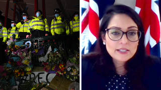 """Priti Patel's policing bill is coming under intense scrutiny after the """"disproportionate"""" policing of a Sarah Everard vigil on Saturday."""