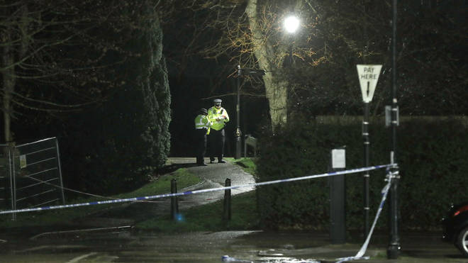 Part of The Rope Walk in Sandwich, Kent has been cordoned off