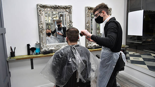 Barbers and hairdressers have been hit hard by the lockdown restrictions in England