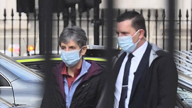 Metropolitan Police Commissioner Dame Cressida Dick arrives at Scotland Yard today