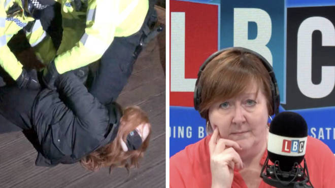 'I was shocked at the police aggression', attendee of Sarah Everard's vigil tells LBC