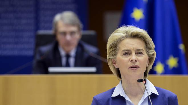 "Ursula von der Leyen has accused AstraZeneca of ""underproducing and underdelivering"""