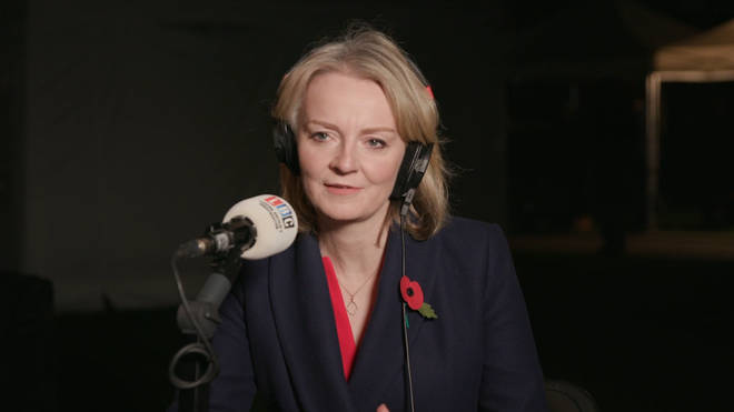 Liz Truss spoke to LBC from Westminster on Monday night