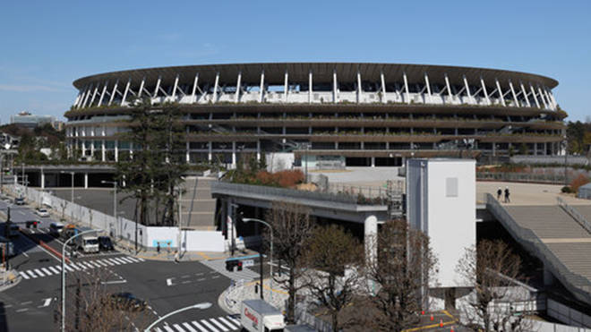 Image of the Japan National Stadium, where the opening and closing ceremony are scheduled to take place.