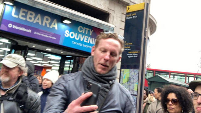 Actor Laurence Fox joined the anti-lockdown protest
