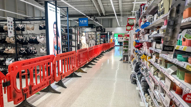 A ban on selling non-essential goods in supermarkets was introduced in Wales last year