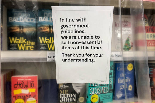 Non-essential items, including books, were banned from being sold in Welsh supermarkets during lockdown